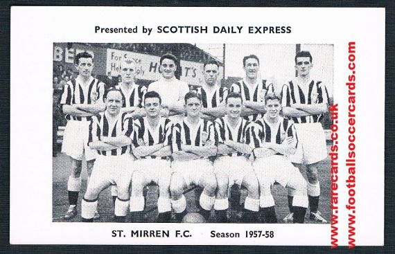 1957 Scots Daily Express St.Mirren